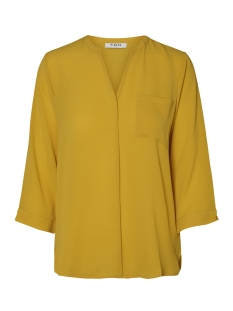 Pieces Blouse PCANDRIA 3/4 BLOUSE D2D 17095812 Nugget Gold