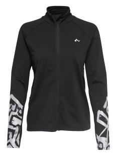 Only Play Sport jas onpRAFA RUN BRUSHED LS ZIP 15154468 Black