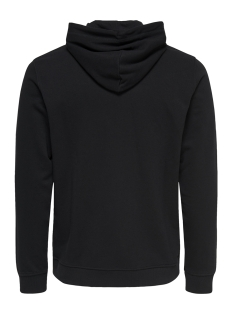 onsbasic sweat hoodie brushed noos 22011744 only & sons sweater black