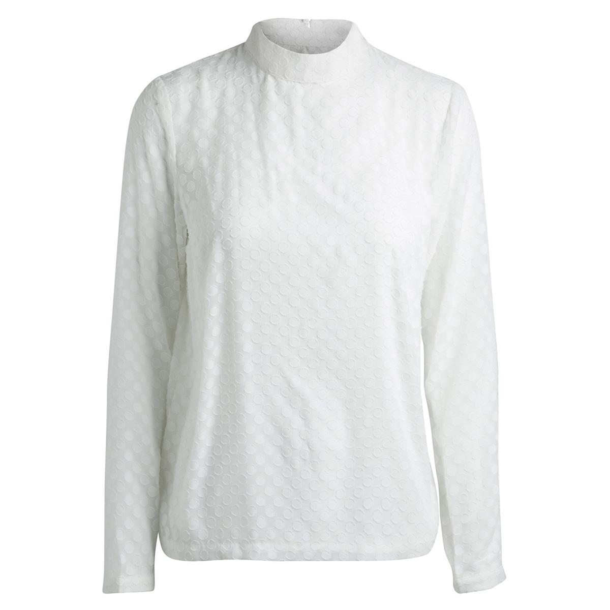 pcdoma ls t-neck top bf 17090326 pieces blouse cloud dancer