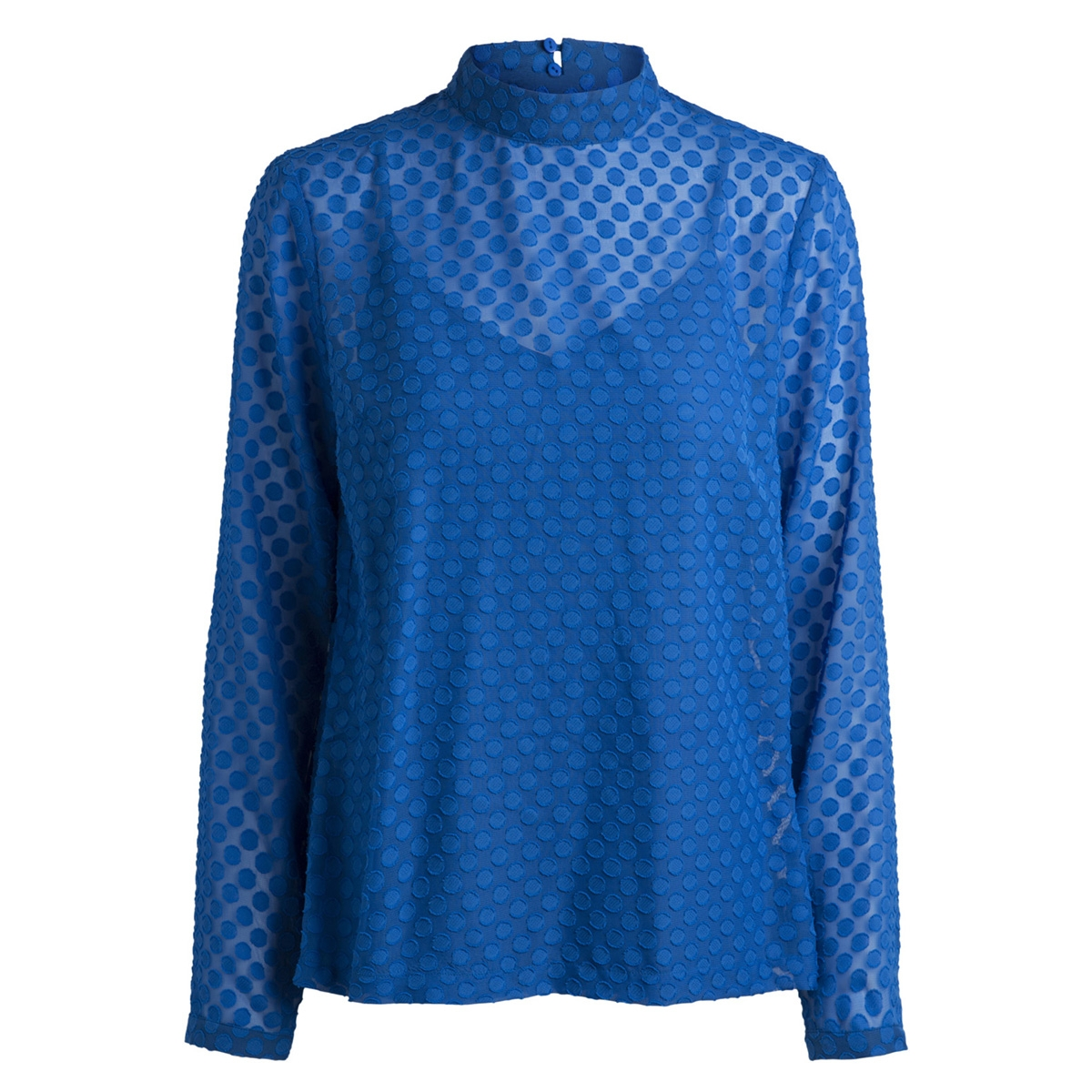 pcdoma ls t-neck top bf 17090326 pieces blouse victoria blue