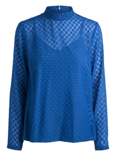 Pieces Blouse PCDOMA LS T-NECK TOP BF 17090326 Victoria Blue