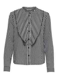 Only Blouse onlMILAN L/S STRIPED PLEAT SHIRT WV 15168921 Bright White/BLACK/WHIT