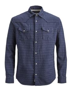 Jack & Jones Overhemd JPRJASPER SHIRT L/S WESTERN 12137989 Navy Blazer