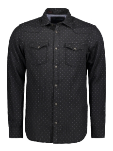 Jack & Jones Overhemd JPRJASPER SHIRT L/S WESTERN 12137989 Caviar/SLIMFIT
