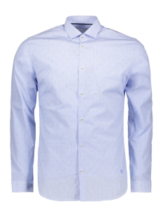 jprcolin dobby shirt l/s plain 12139581 jack & jones overhemd cashmere blue/slim fit
