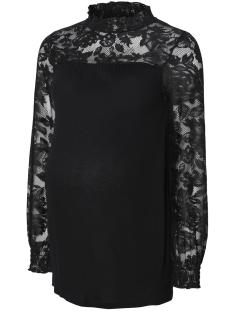 Mama-Licious Positie shirt MLDORTEA L/S JERSEY LACE TOP V. 20009085 Black
