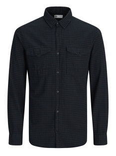 Jack & Jones Overhemd JCOATLANTA SHIRT L/S WORKER 12139986 Black/SLIM