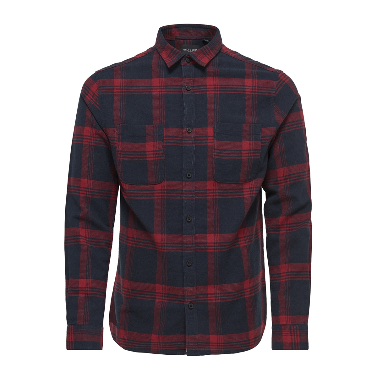 onswillem ls checked shirt noos 22011713 only & sons overhemd rhubarb