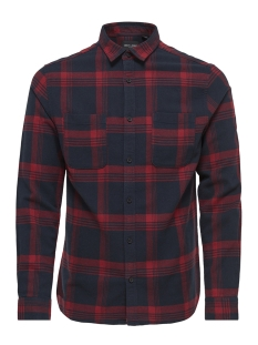Only & Sons Overhemd onsWILLEM LS CHECKED SHIRT NOOS 22011713 Rhubarb