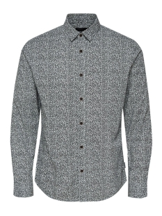 Only & Sons Overhemd onsMEXIT LS AOP SHIRT 22011704 White