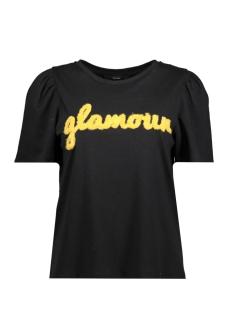 Vero Moda T-shirt VMMUSE SS TOP BF 10202457 Black/BLACK W. GLAMOUR