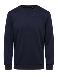 Only & Sons Sweater onsTOM JACQUARD CREW SWEAT 22011503 Dress Blues