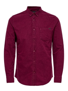 Only & Sons Overhemd onsOSANDER LS OVERDYED OXFORD SHIRT 22011193 Cabernet