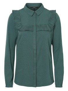 Vero Moda Blouse VMHALLIE LS SHIRT 10206592 Alpine Green/HOUNDSTOOT