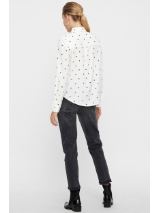 vmnicky xmas l/s midi shirt d2-6 10203851 vero moda blouse snow white/black