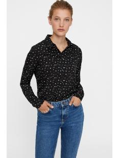 vmnicky xmas l/s midi shirt d2-6 10203851 vero moda blouse black/snow white