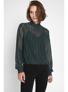 pclul ls glitter smock top camp 17095008 pieces t-shirt ponderosa pine/lurex silver