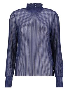 Pieces T-shirt PCLUL LS GLITTER TOP CAMP 17093219 Maritime Blue/SILVER LUR