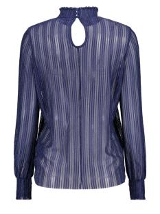 pclul ls glitter top camp 17093219 pieces t-shirt maritime blue/silver lur