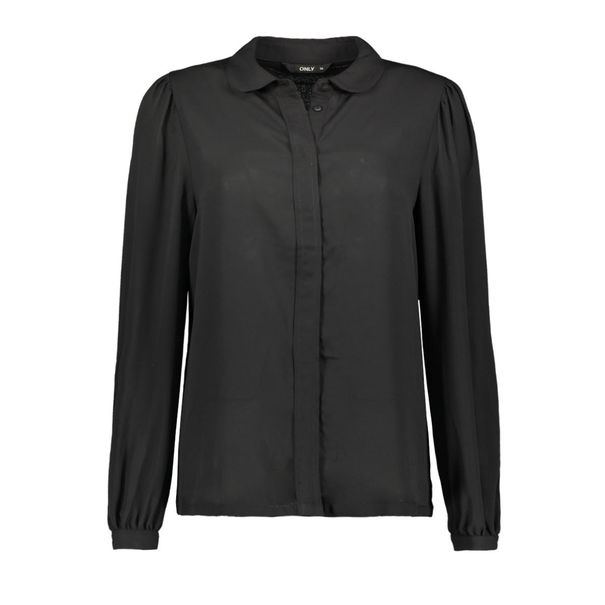 onlmartha ls round collar shirt wvn 15167221 only blouse black