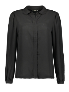 Only Blouse onlMARTHA LS ROUND COLLAR SHIRT WVN 15167221 Black