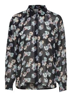 Jacqueline de Yong Blouse JDYHANNA L/S SHIRT WVN 15165910 Black/GREY FLOWER