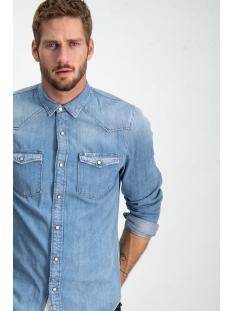 z1081 garcia overhemd 223 indigo blue