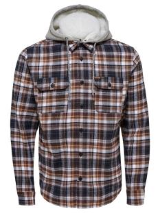 Only & Sons Overhemd onsMIKKEL LS REG CHECKED HOODIE SHIRT 22011707 Demitasse