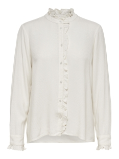 onlmiriam ls shirt wvn 15171037 only blouse cloud dancer