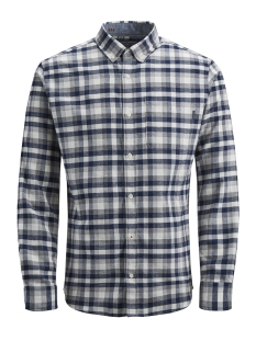 Jack & Jones Overhemd JPRKEITH CHECK SHIRT L/S 12143551 White/SLIM FIT