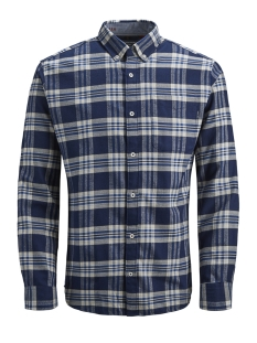 Jack & Jones Overhemd JPRKEITH CHECK SHIRT L/S 12143551 Navy Blazer/SLIM  FIT