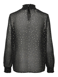 pclucy  ls t-neck top camp 17093462 only t-shirt black/gold dot
