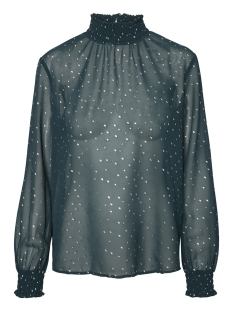 Pieces T-shirt PCLUCY  LS T-NECK TOP CAMP 17093462 Ponderosa Pine/SILVER DOT