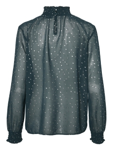 pclucy  ls t-neck top camp 17093462 pieces t-shirt ponderosa pine/silver dot