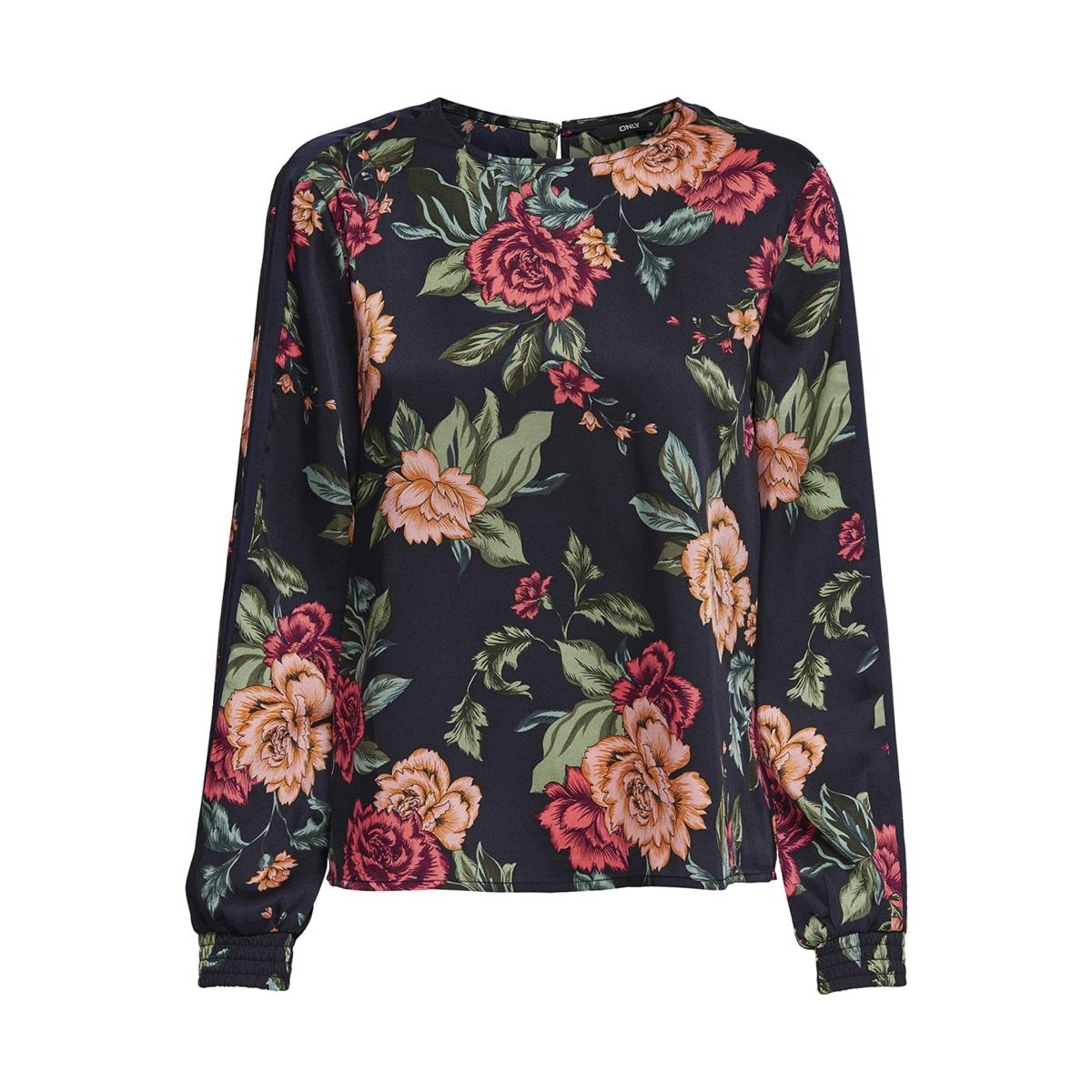 onlroyal ls top wvn 15167098 only blouse night sky/opulent flower