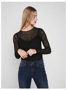 pclucie ls top box pb 17093269 pieces t-shirt black/dots