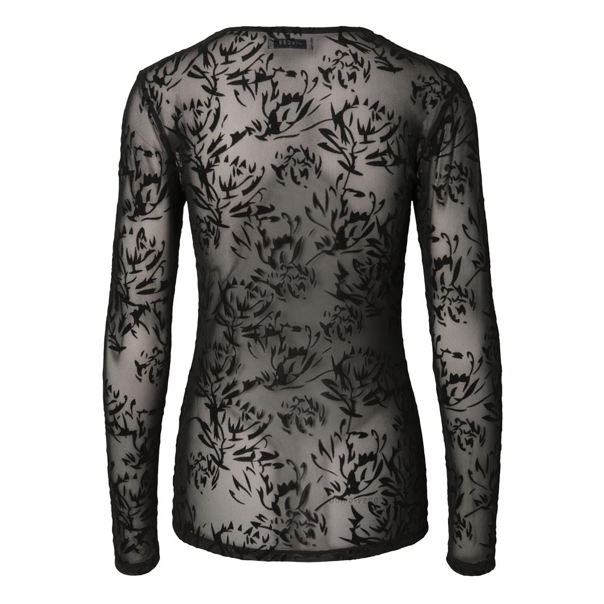 pclucie ls top box pb 17093269 pieces t-shirt black/flower