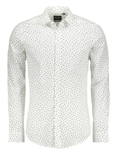 Only & Sons Overhemd onsALFREDO LS DITSY MUSTACHE AOP SH 22013519 White