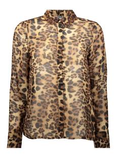 nmjean  chella  l/s  shirt x 27007902 noisy may blouse black/leopard