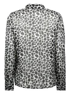 nmjean  chella  l/s  shirt x 27007902 noisy may blouse bright white/giraffe