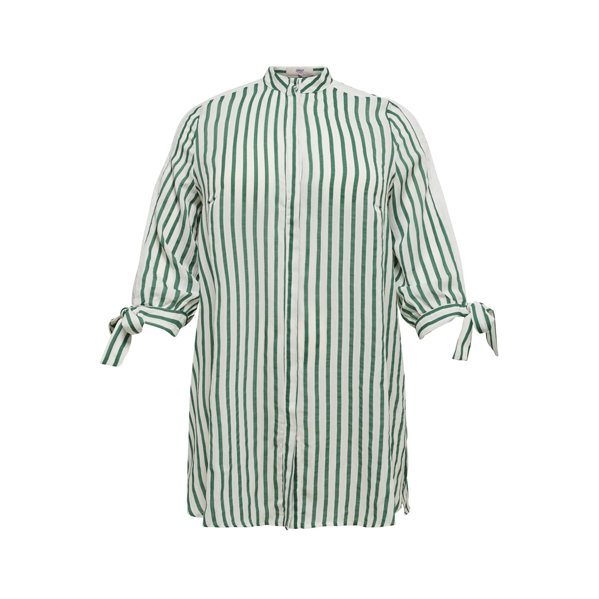 carblueberry 3/4 sleeve long shirt 15171263 only carmakoma blouse cloud dancer/stripe green