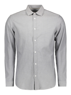 Jack & Jones Overhemd JCOHUDSON SHIRT LS PLAIN 12143849 Light Grey Melange/SLIM FIT