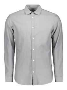 Jack & Jones Overhemd JCOHUDSON SHIRT LS PLAIN 12143849 Light Grey Melange/SLIM FIT