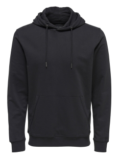 Only & Sons sweater onsBASIC SWEAT HOODIE UNBRUSHED NOOS 22012006 Black