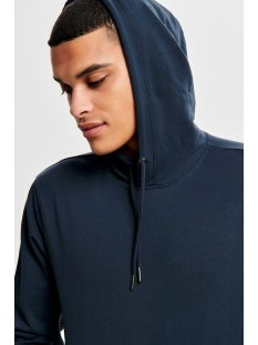 onsbasic sweat hoodie unbrushed noos 22012006 only & sons sweater blue nights