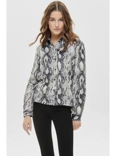 onlsnake l/s shirt wvn 15181210 only blouse cloud dancer/snake