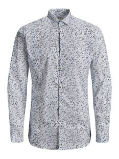 jprblackpool shirt l/s s19 sts 12145540 jack & jones overhemd white/slim fit