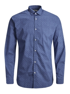 Jack & Jones Overhemd JPRBLACKPOOL SHIRT L/S S19 STS 12145540 Blue Depths/SLIM FIT