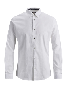Jack & Jones Overhemd JPRMARCO DETAIL SHIRT L/S 12145537 White/SOLID/Slim